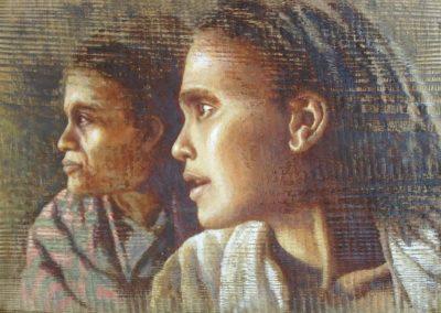 Technique mixte tableaux François Beaumont stages d'aquarelle, huile et carnet de voyage en Provence et au Maroc.