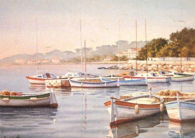 Aquarelle de François Beaumont, stages d'aquarelle, huile et carnet de voyage en Provence et au Maroc.